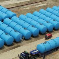 Szennyvíz tárolása és szállítása műanyag tartályokban