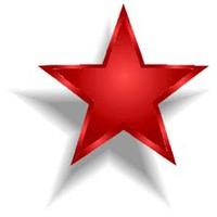 Vörös csillag - zöld jelzés