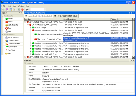 Quest Code Tester for Oracle