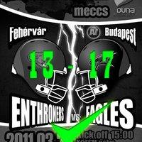 Fehérvár Enthroners - Budapest Eagles
