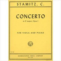 _NEW_ Stamitz - Concerto In D Major Op. 1. For Viola And Piano. Edited By Meyer. By International. stands merced Rugby Gabinete oferta privada