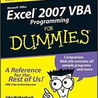 Excel 2007 VBA Programming For Dummies Download.zip