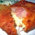 Baconös rántott sajt