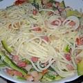 Tejszínes-cukkinis spagetti