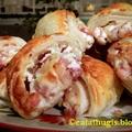 Baconös-sajtkrémes kistáskák