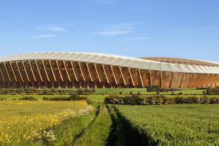 A jövő futballstadionja fából készül!