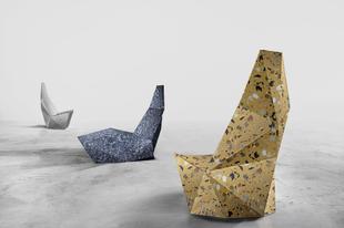 Magyar beton szék és beton kád a Milánói Design Héten