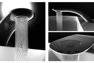 Víztakarékos csap, művészi vízsugarakkal