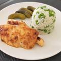 Citromos, fokhagymás, mustáros csirkemell rizibizivel