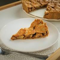 Zab- és tönkölylisztes almás pite
