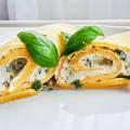 Diétás omlett túrókrémmel töltve