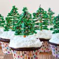 Karácsonyi csokis muffin karácsonyfával