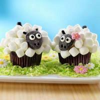 Pillecukros muffin báránykák