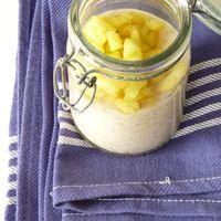 Levezetés: Kókuszos tapióka puding édes-savanyú ananászkockákkal (cukormentes)