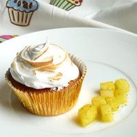 Csókos: Kókusz-lime-ananász cupcake