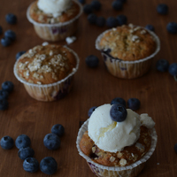A muffin, ha jó: Szeder-áfonya muffin és vaníliás joghurtfagyi