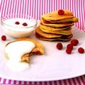 Receptverseny/Augusztus: Málnás mini palacsinta vaníliás joghurttal
