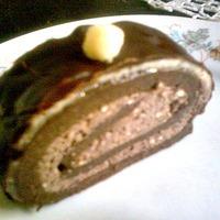 Receptverseny/Március: Csokis-marcipános brownierolád