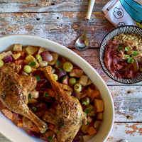 Tanácsok a kacsa bevezetéséhez és omlós kacsacomb szilvás birsalmás zöldségekkel - baba változatban is