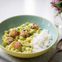 Nagyon nyári citromfüves halgombóc curry