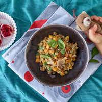 Rizses húst pótló zöldséges komfortragu