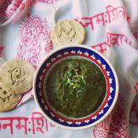 Indiai náthastop - kecskesajtos gyógyerős spenótcurry