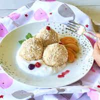 Köleses fehérbabos hamis túrógombóc - régi kedvenc tejmentesen
