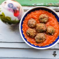 Húsgolyó mánia - sütőtökös paradicsomszósszal, arabosan