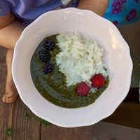 Zölden, édesen, gyümölcsösen - tejberizs édes sóskával