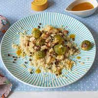 Narancsos lencsés mogyorós quinoa saláta kelbimbóval - bőséget az újévre!