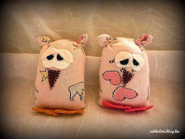 DIY zokni bagoly