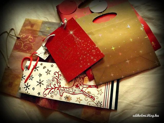 Használt ajándék tasak- gondold meg háromszor...