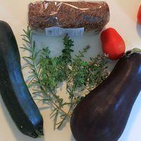 Provence-i zöldséges vörös rizs