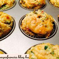 Salátás muffin