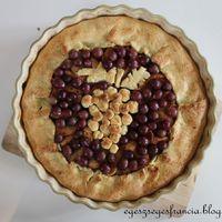 Vörösboros, szőlős almatorta