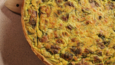 Selymes, spenótos quiche