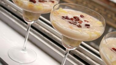 Kókuszos, lime-os pohárkrém almakompóttal