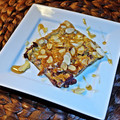 Meggyes-mandulás palacsinta a sütőből
