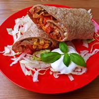 Mexikói ízek teljes kiőrlésű tortillában