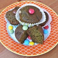 Spenótos vaníliás muffin