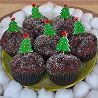 Céklás fenyőrerdő muffin