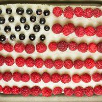 Amerikai zászló torta