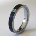 Fekete titán gyűrű