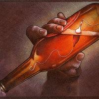 Alkoholfüggőség egy lengyel illusztrátor szemével