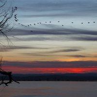 MTI: lement a nap a Kis-Balatonnál