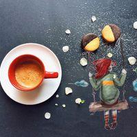 Cukiskodás a reggelivel