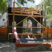 Képek a Mária téri játszótér építéséről