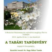 Meghívó a Tabáni tanösvény megnyitó ünnepségére