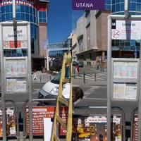 Megszépültek a nagykörúti villamosmegállók utastájékoztató elemet