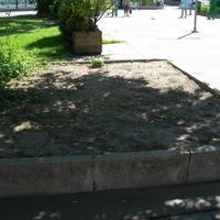Cserjeültetés a Batthyány téren